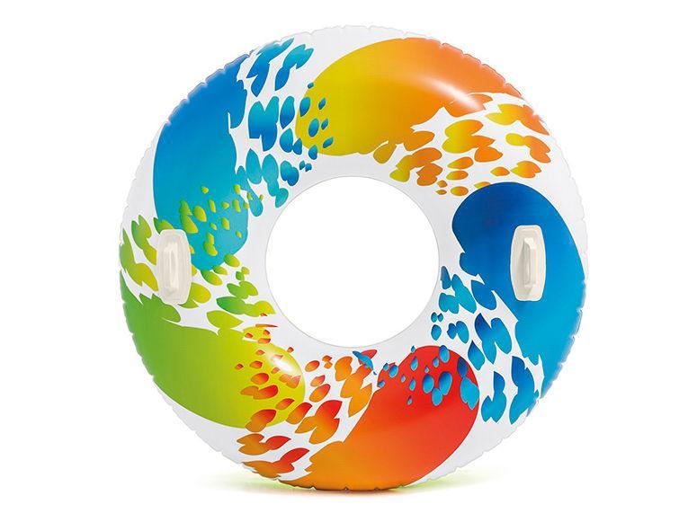 Надувной круг с ручками «Color Whirl Tube» Intex, 119 см.