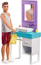 Кукла Барби Кен в ванной комнате - Barbie Ken Shaving & Bathroom