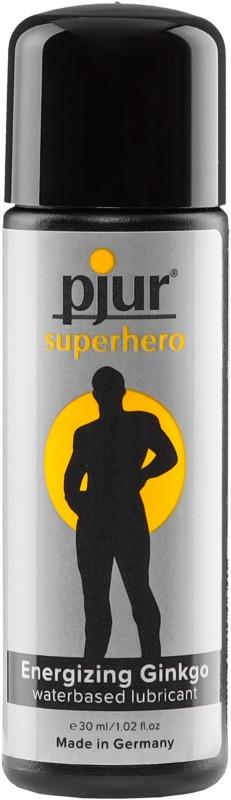 Стимулирующий эрекцию лубрикант-пролонгатор на водной основе pjur Superhero glide 30 мл для мужчин (Пьюр, Пджюр)