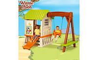 """Детский домик для игры на улице """"Винни"""" Smoby с горкой и качелями"""