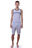 Пижама Мужской 100% хлопок серый Sevil все размеры  S