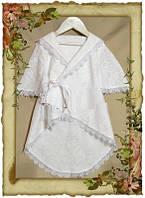 Рубашка - халатик для крещения детская.