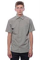Рубашка Мужской 95 % хлопок, 5% полиэстер зелено-серый Abidante все размеры  L