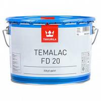 Эмаль temalac fd 20 темалак фд 20, алкидная краска для метала  18 литров Белая