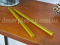 Термоклей  11мм, с блестками, золото