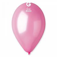 """Шары 5"""" 13 см металлик розовый №33"""
