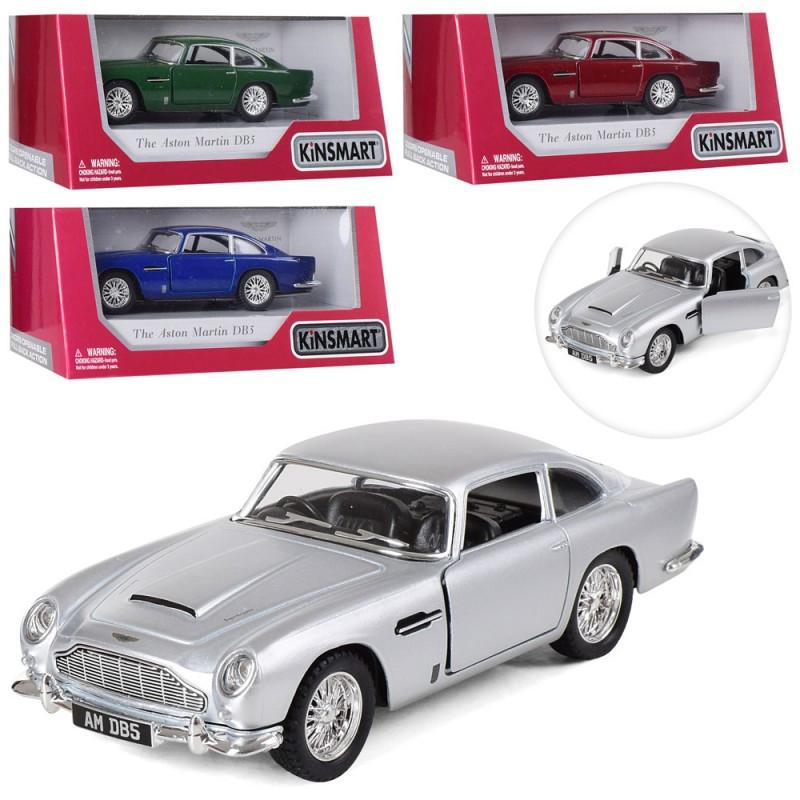 Машинка Aston Martin DB5, 1:38, металева, 4 кольори, в коробці, 16-7-8 см KINSMART