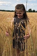 Сукня для дівчинки оригінального дизайну з натурального льону 104-152