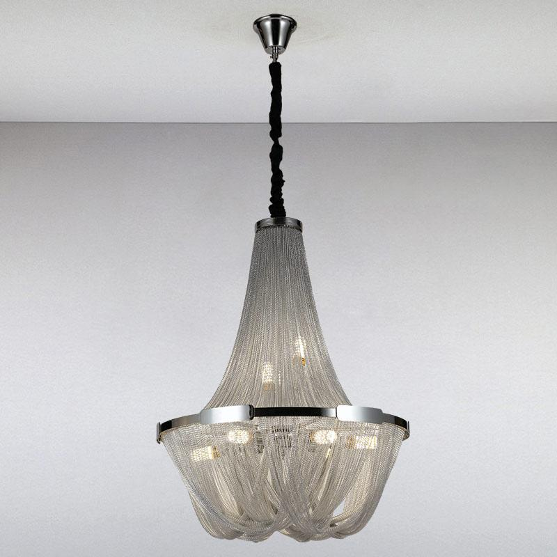 Люстра LS-13345-8 Silver