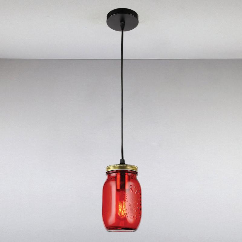 Люстра LS-13378-1 RED красная