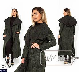 Пальто женское демисезон. Размер 48-50, 52-54. Ткань букле. Длина 125см