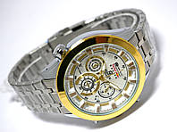 Мужские часы в стиле CASIO Edifice - RedBull, серебристый цвет