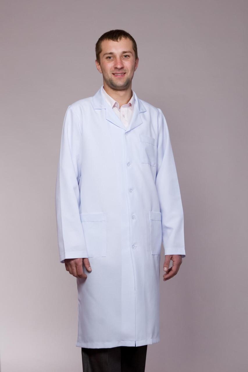 Мужской медицинский халат на пуговицах
