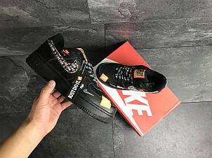 Мужские кроссовки Nike Air Force 1 Just Do It, черные, фото 2