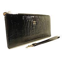 Клатч лаковый кожаный Chanel 263 черный, расцветки в наличии, фото 1