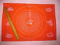 Силиконовый коврик 64*45 см с разметкой, фото 1