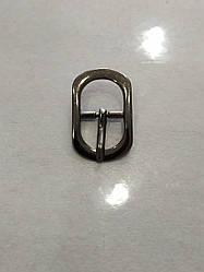 Пряжка взуттєва сандальная 15мм чорний нікель