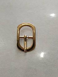 Пряжка взуттєва сандальная 15 мм золото