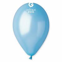 """Шары 5"""" 13 см металлик голубой №35"""