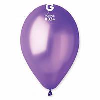 """Шары 5"""" 13 см металлик фиолетовый №34"""