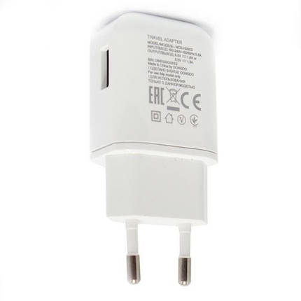 Зарядное устройство LG Travel Adapter, White, 1xUSB, 9V / 1.8A (MCS-H05ED), зарядка для телефона лж, фото 2