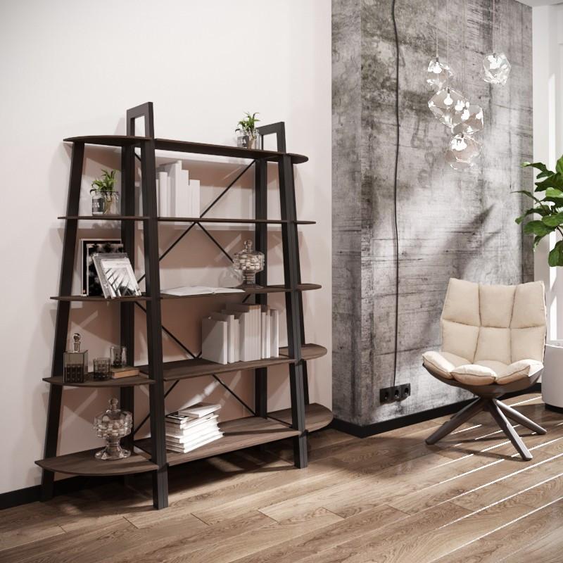 Стеллаж Призма Комплект 5 полок (серия Loft) ТМ Металл-Дизайн