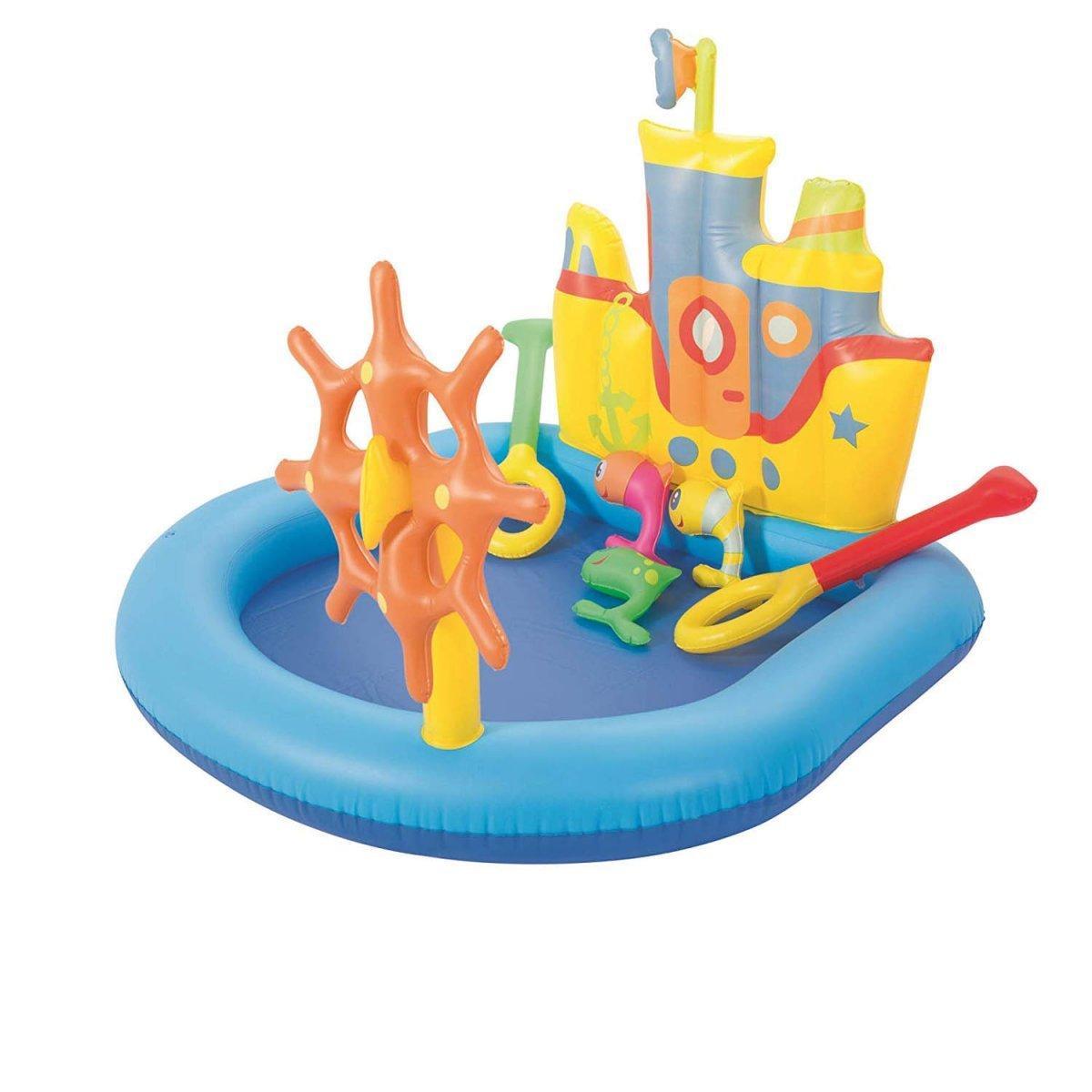 """Детский надувной бассейн Bestway """"Кораблик"""", 140х130х104 см  (52211)"""