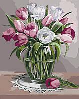 Картина по номерам на холсте Весенний аромат, KHO3041