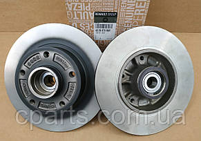 Комплект задніх не вентильованих дисків Renault Megane 3 хетчбек (оригінал)