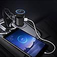 ФМ модулятор (FM + Bluetooth + AUX out + Громкая связь + USB + microSD + Вольтметр), фото 6