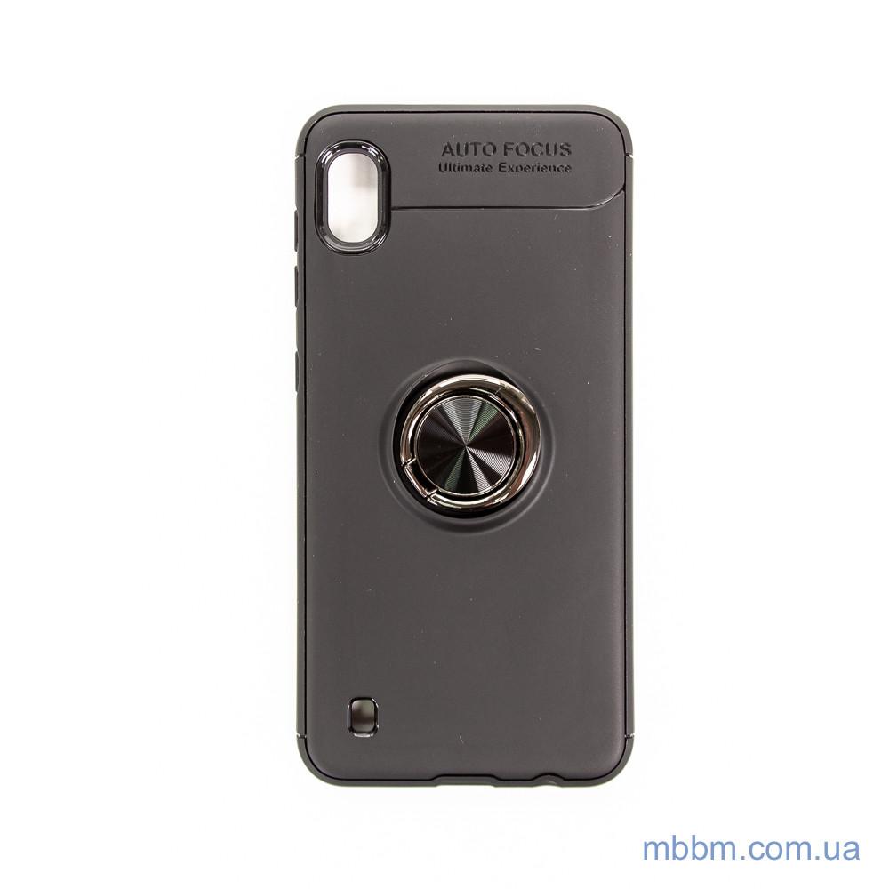 Чохол TPU Deen ColorRing з кріпленням під магнітний тримач Samsung A10 black