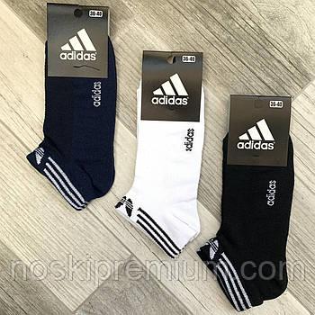 Носки женские спортивные х/б с сеткой короткие Adidas Athletic Sports, ассорти, 06011