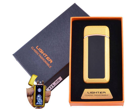 Зажигалка в подарочной коробке Лев (Двойная молния) , фото 2