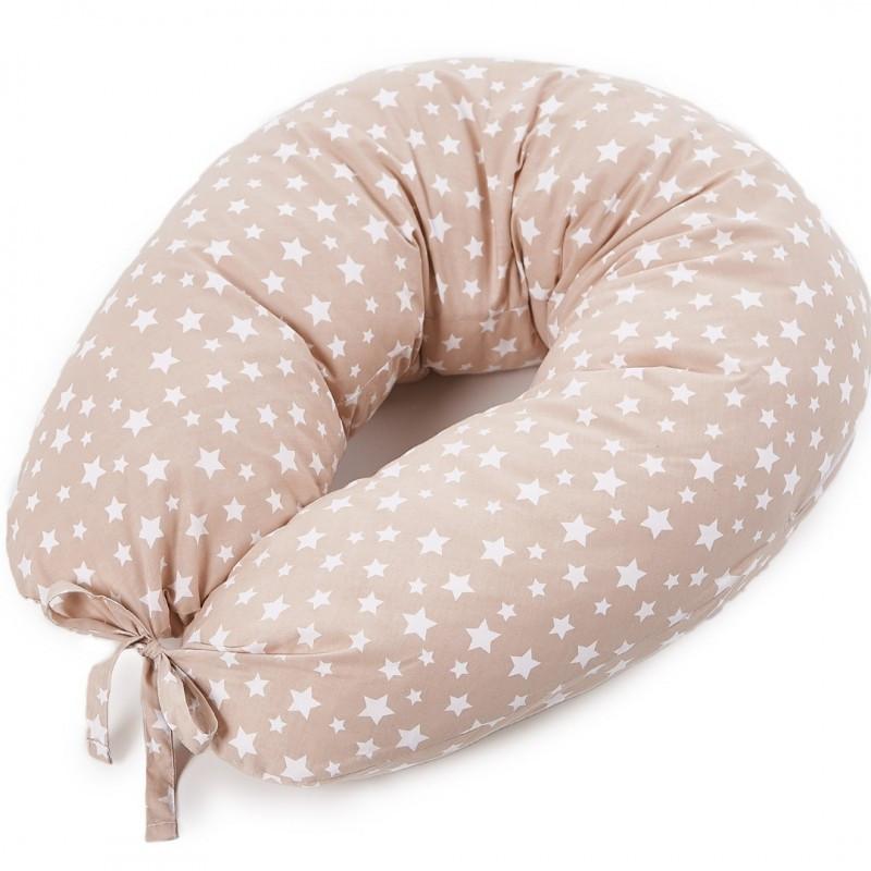 Подушка для кормления новорожденных и беременных Veres Smiling animals 165х70 Бежевый