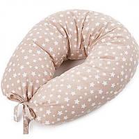 Подушка для кормления новорожденных и беременных Veres Smiling animals 165х70 Бежевый, фото 1