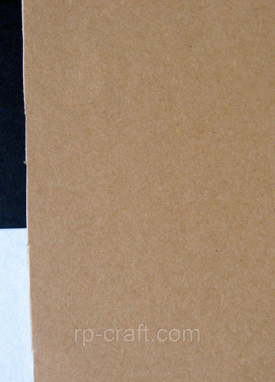 Картон кольоровий двосторонній, крафтовий, щільність270 гр/м ;  21х30 см