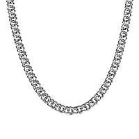 Серебряная цепочка ГАРИБАЛЬДИ 6 мм, 45 см , фото 1