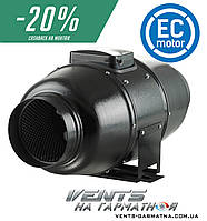 Вентс ТТ Сайлент-М 100 ЕС. Шумоизолированный вентилятор с ЕС-мотором