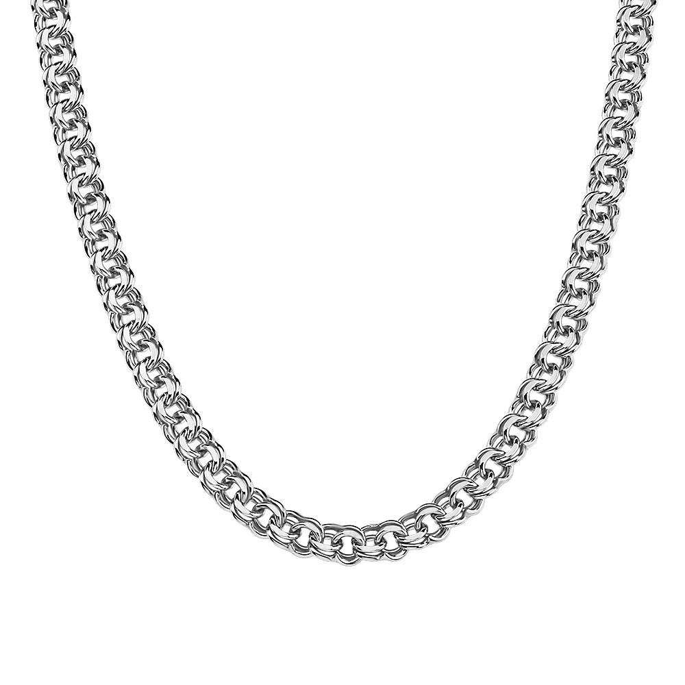 Серебряная цепочка ГАРИБАЛЬДИ 6 мм, 65 см