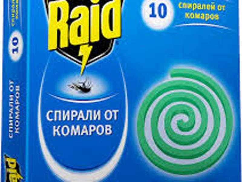 Спираль от комаров Raid (упаковка)