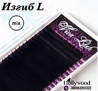 Вії Viva Lash 0.07 mix 8-14 мм вигин L