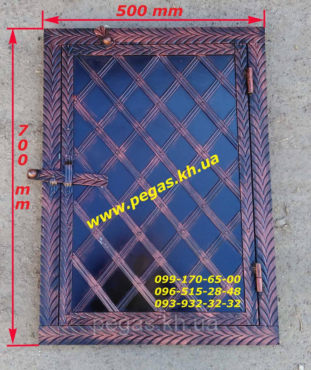 Дверка под коптилку металлическая №4 (400х600)