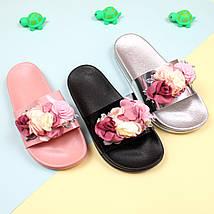 Пляжные шлепки цветы Розовые р. 36,37,38,40, фото 3