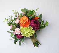 Свадебный букет невесты, свидетельницы (d - 21-23см)