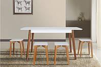 Стол обеденный Сингл Ножки Орех (Микс-Мебель), фото 1