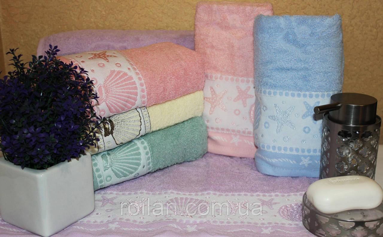 Банные турецкие полотенца Gulcan Ракушка