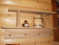 Полка «Банная» с вешалкой на 4 крючка