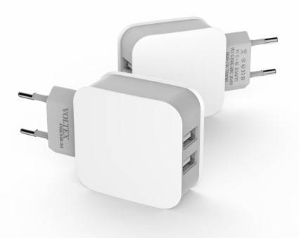 Зарядное устройство Voltex, White, 2xUSB, 5V / 3.1A (VLT-9240), зарядка для смартфона, телефона, фото 2