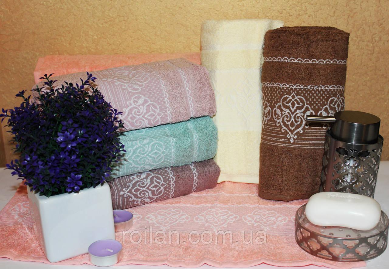 Банныетурецкие полотенца Gulcan Вензель