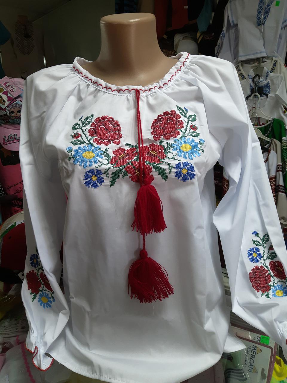Рубашка Вышиванка детская Подростковая для девочек р.158 164 170